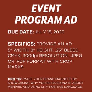 Event Program Ad