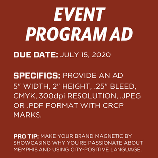 Event Program Ad