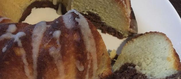 Grain, Gluten and Sugar-Free Italian Ciambellone (Marble Pound Cake)