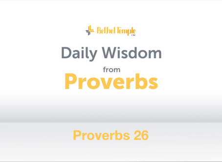 Proverbs 26 | Daily Wisdom from Proverbs
