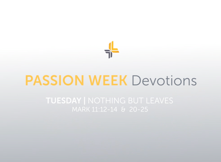 Tuesday | Nothing But Leaves | Passion Week Devotions