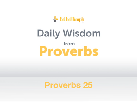 Proverbs 25 | Daily Wisdom from Proverbs