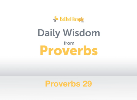 Proverbs 29 | Daily Wisdom from Proverbs