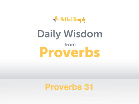 Proverbs 31 | Daily Wisdom from Proverbs