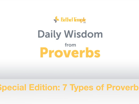 7 Kinds of Proverbs | Daily Wisdom from Proverbs