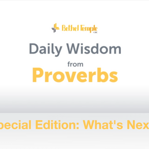 Daily Wisdom from Proverbs | What's Next?