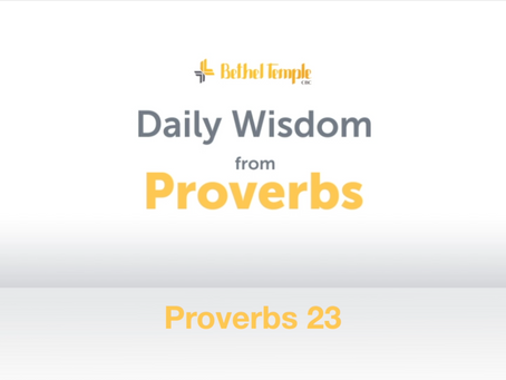 Proverbs 23 | Daily Wisdom from Proverbs