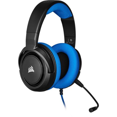 CORSAIR DIADEMA GAMER HS35 STEREO 3,5 MM. AZUL