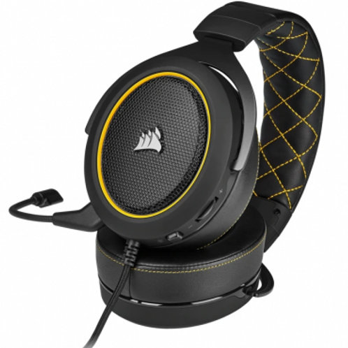CORSAIR DIADEMA GAMER HS60 SURROUND PRO YELLOW