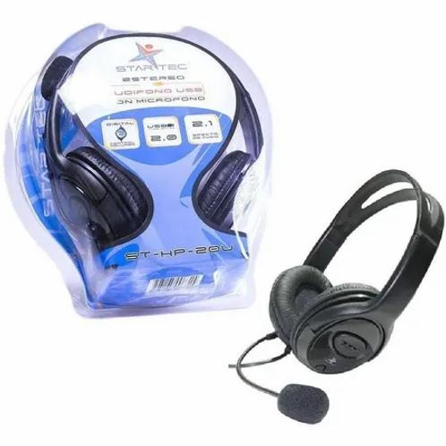 STAR TEC DIADEMA ST-HP-20U USB NEGRO