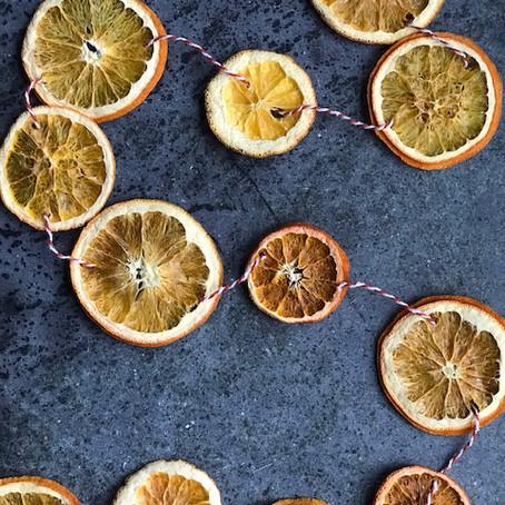 Making an Orange Garland