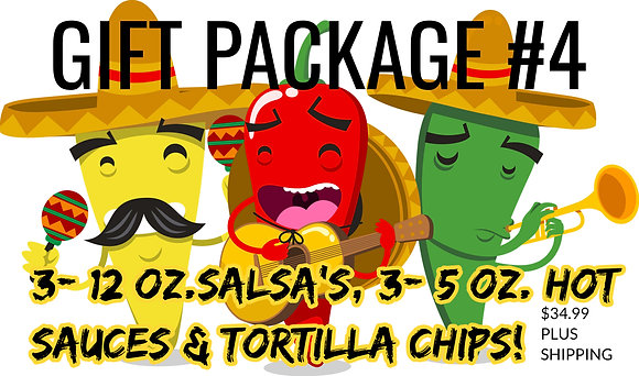 GIFT Package  #4 - 3 Pack Salsa & Hot Sauce