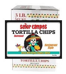 3 Pound BULK Restaurant Style Tortilla Chips