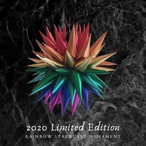 2020 Rainbow Starburst Ornament