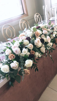 Fresh Floral Head Table