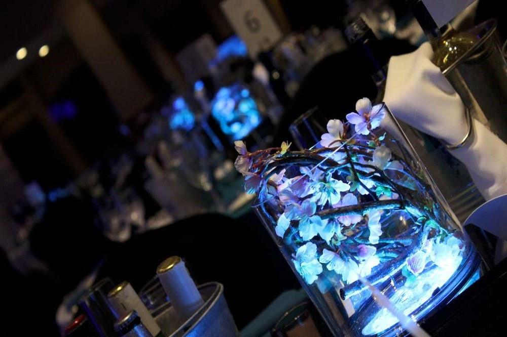 The Effloresce Lit Flower Centrepiece Table Art