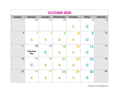 24Q102_Revised2020CalendarGroupDays_Oct.