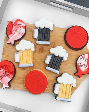 Personalised Birthday Beer Fondant Cookies