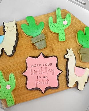 Birthday Llama Personalised Fondant Cookies