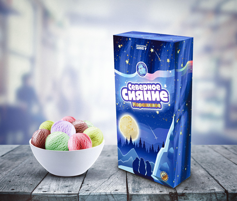 """Мороженное """"Северное сияние"""""""