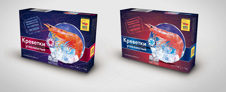 Дизайн упаковки для креветок