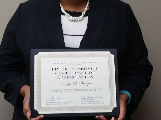 Nesha Wright Recognized for Exemplary Pro Bono Service