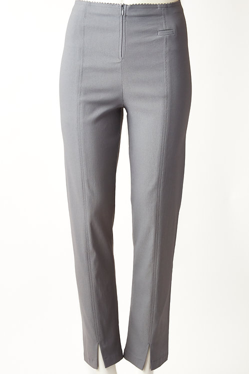 Million slim grey pant with front slit