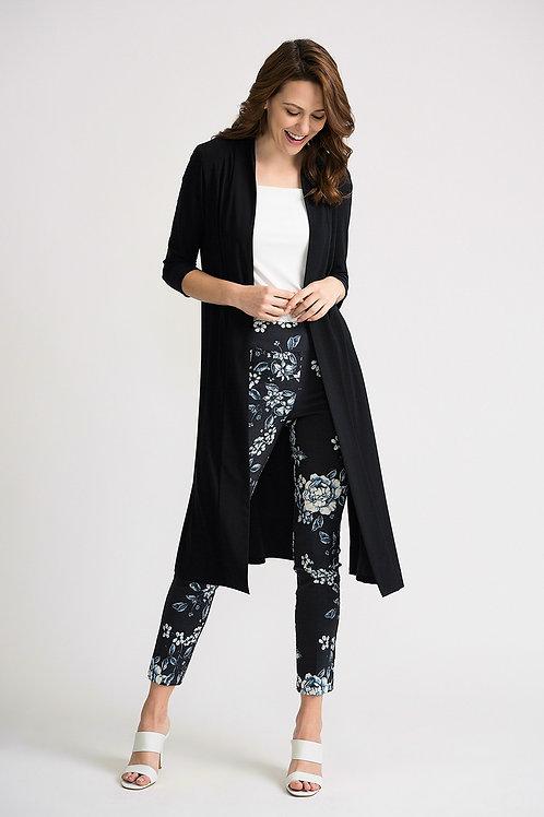 Joseph Ribkoff long black cardigan style 202445