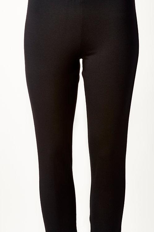 Million slim black pant with front slit