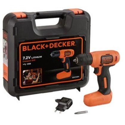 מברגה / מקדחה נטענת 7.2V BDCD8K Black & Decker