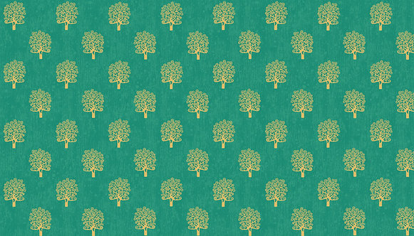 Trees in Turquoise | Rhapsody Collection | Makower UK​​​​