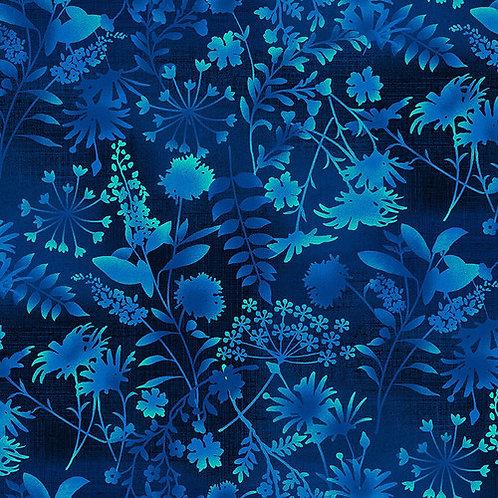 Wildflowers Toss in Midnight | Feather & Flora | Studio E Fabrics