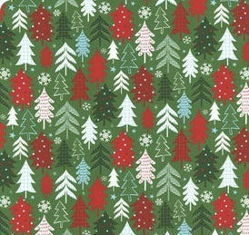 Christmas Trees on Spruce | Jolly Season Collection | Moda