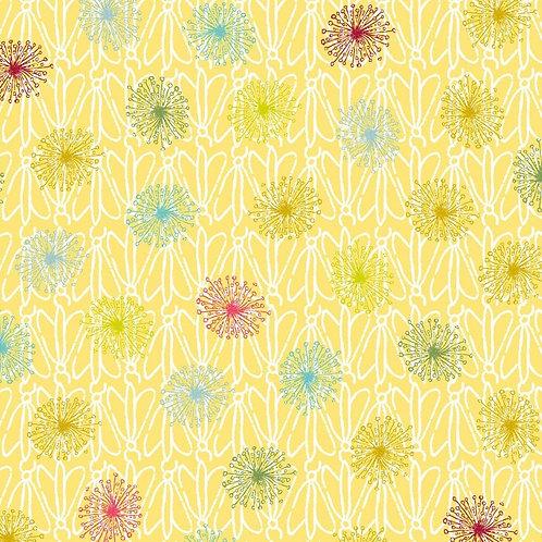 Dandelions & Bugs - Yellow | Roadside Flowers | STOF Fabrics