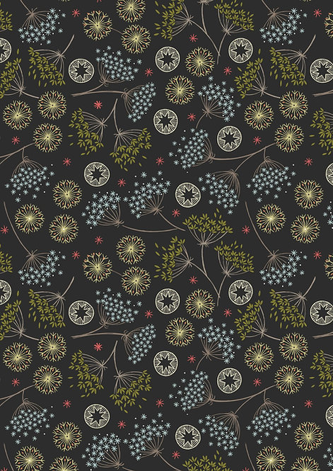 Winter Floral on Black | New Forest Winter Collection | Lewis and Irene