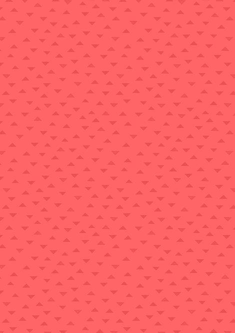 Dark Coral Tiny Triangles | Geometrix Collection | Lewis & Irene