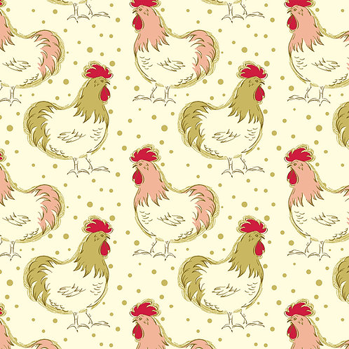 Chickens on Cream | Homestead Life | Windham Fabrics