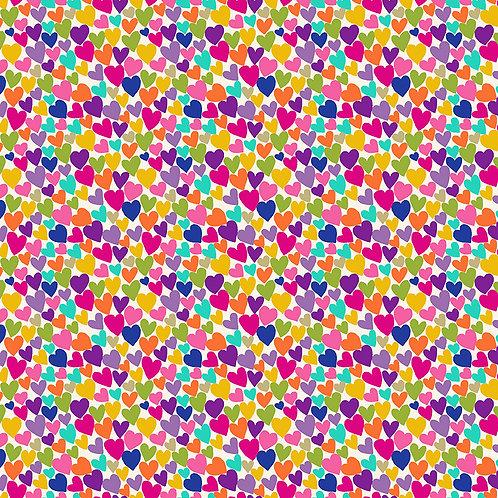 Hearts on White   Katy's Cats   Makower UK