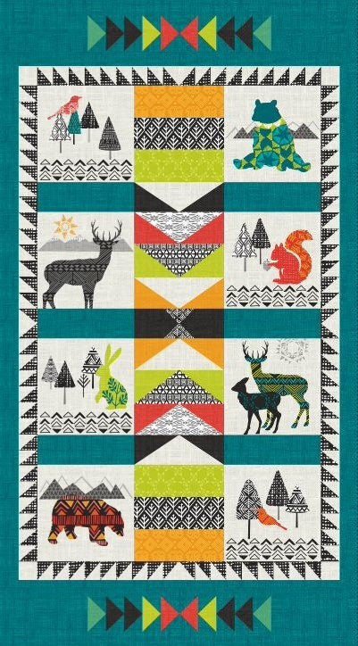 Into the Woods Panel | Into the Woods Collection | Studio E Fabrics