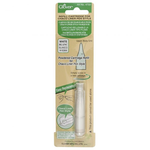 Clover Chaco Liner Pen Style Refill White | Notions | Clover