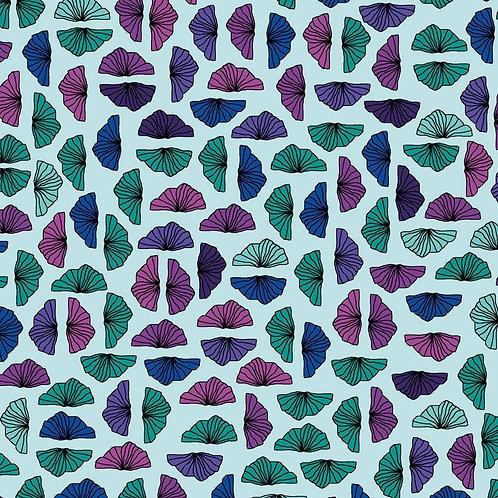 Petals - Aqua | Roadside Flowers | STOF Fabrics