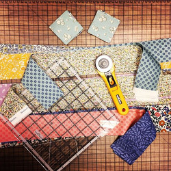 Little Cushion kits in progress #libertygardencollection #makeityourself #quiltingfabrics #sewingkit