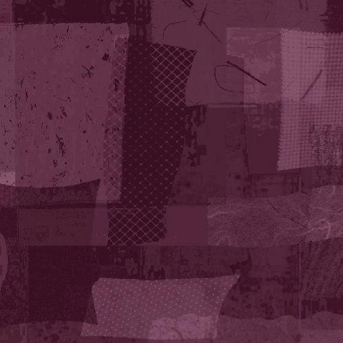 Scrap Squares in Purple |Scrap Heap Collection | Studio 37 Fabrics