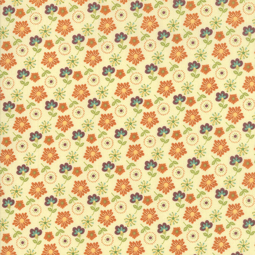 Mixed Bouquet in Snow | Last Bloom Collection | Moda Fabrics