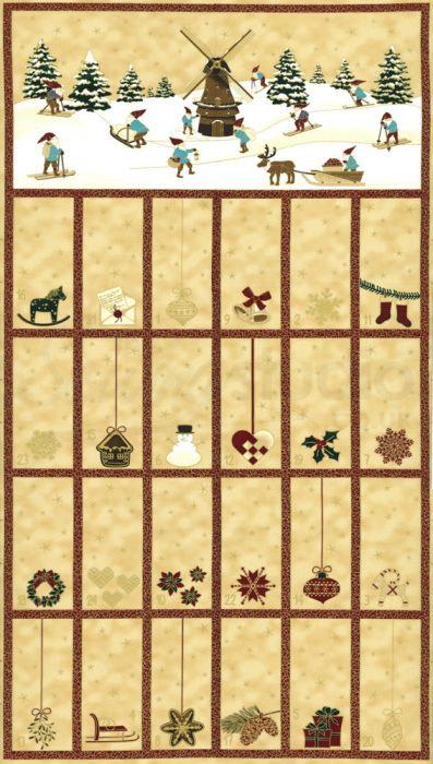 Christmas Wonder Advent Calendar   Christmas Wonder Collection   STOF Fabrics
