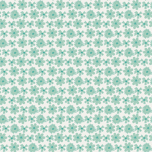 Sweet Blooms in Teal   Hand Picked Collection   Sweet Bee Designs