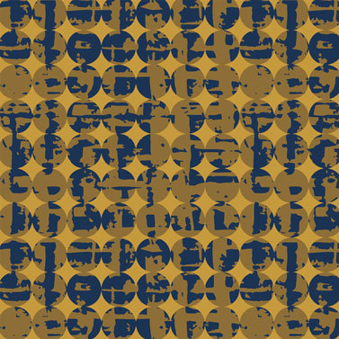 Smudge and Circles Goldenrod  | Pottery Collection | Windham Fabrics