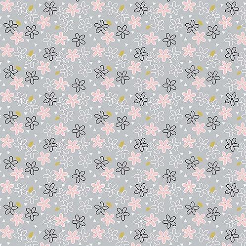 Metallic Glitter Daisy | Believe Collection| Michael Miller Fabrics