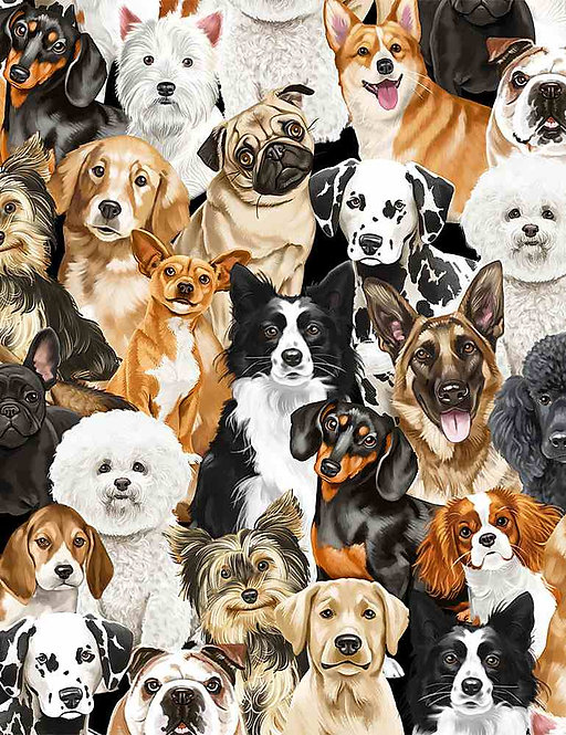 Realistic Dogs  I love My Dog Collection | Timeless Treasures