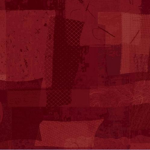 Scrap Squares in Burgundy | Scrap Heap Collection | Studio 37 Fabrics